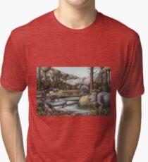 Triassic Period, Illustration Tri-blend T-Shirt