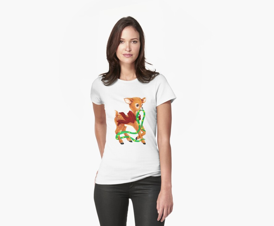 Holiday Deer Tee by Catherine Crimmins