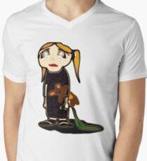 sad girl Men's V-Neck T-Shirt