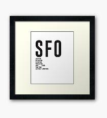 San Francisco Airport SFO Framed Print