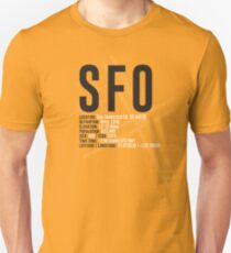 San Francisco Airport SFO Unisex T-Shirt