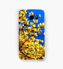 Yellow flowers blue sky Samsung Galaxy Case/Skin