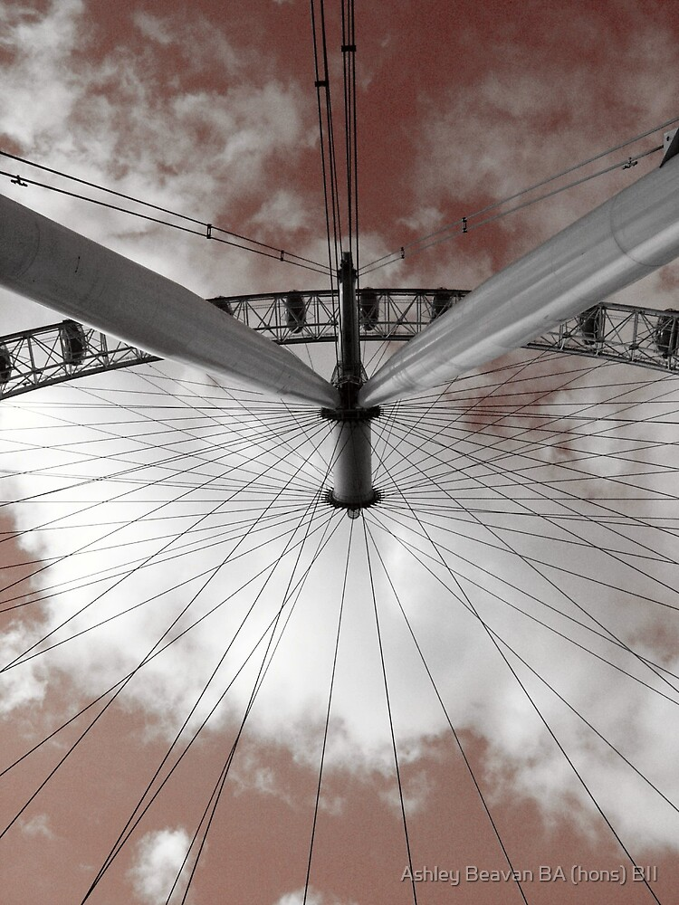 London Eye in the sky by Ashley Beavan BA (hons) BII