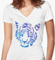 Tiger Number 1 Women's Fitted V-Neck T-Shirt