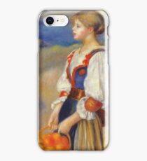 Auguste Renoir - Girl With A Basket Of Oranges iPhone Case/Skin