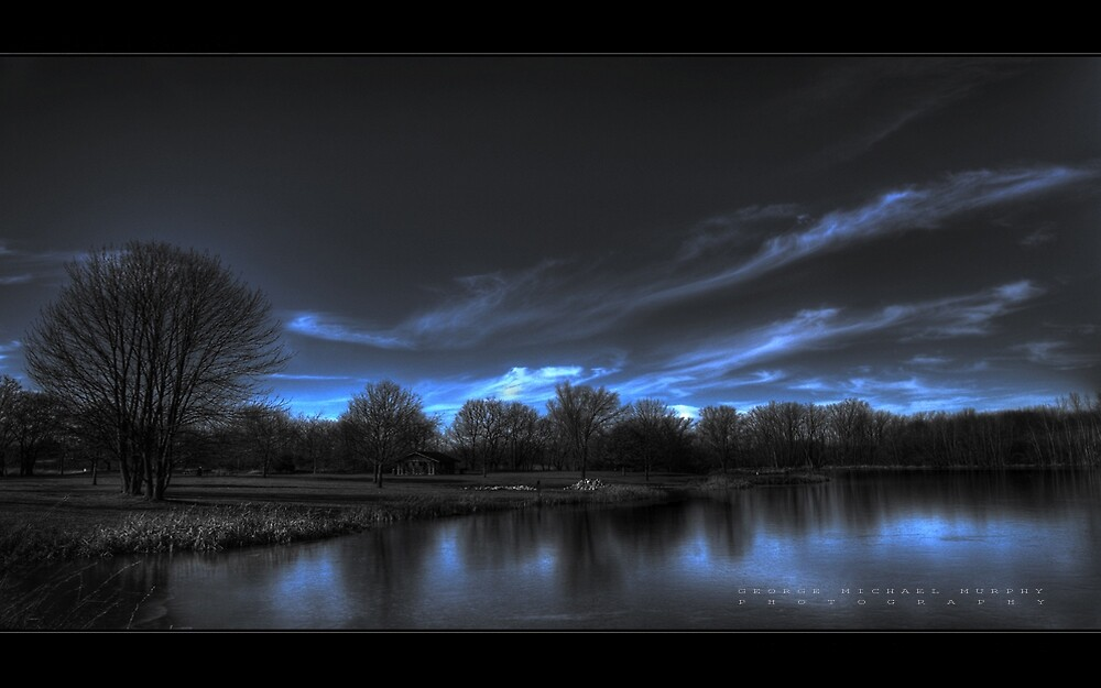 She Paint In Blue by GeorgeSaad