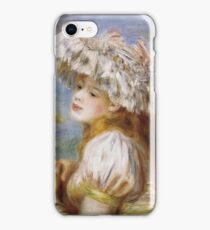 Auguste Renoir - Girl In A Lace Hat 1891 iPhone Case/Skin