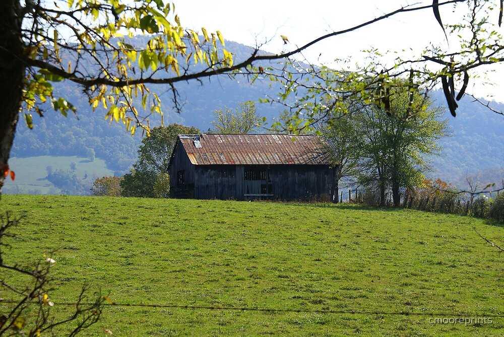 Barn in the field... by cmooreprints