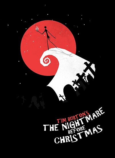 Minimalist Poster Nightmare Before Christmas Poster By Squall234