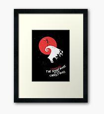 Minimalist Poster : Nightmare Before Christmas Framed Print
