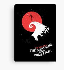 Minimalist Poster : Nightmare Before Christmas Canvas Print