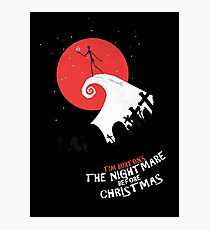 Minimalist Poster : Nightmare Before Christmas Photographic Print