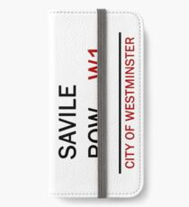 'Savile Row' - London Street Sign iPhone Wallet/Case/Skin