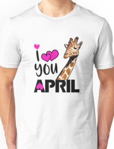 april the giraffe saying tired as a mother Unisex T-Shirt