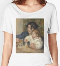 Auguste Renoir - Gabrielle And Jean (1895 - 1896) Women's Relaxed Fit T-Shirt