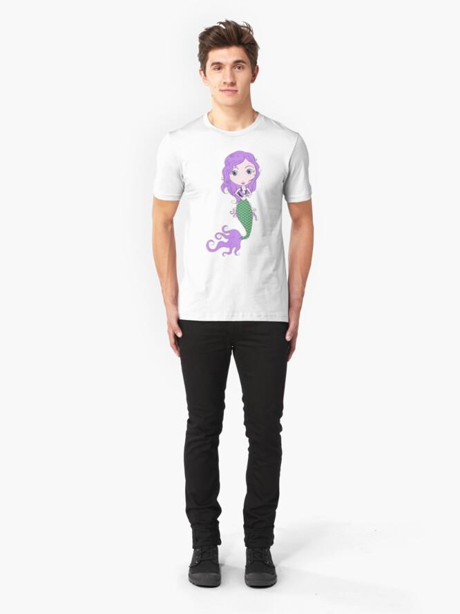 Alternate view of I Heart Mermaids - 2nd of 4 Slim Fit T-Shirt