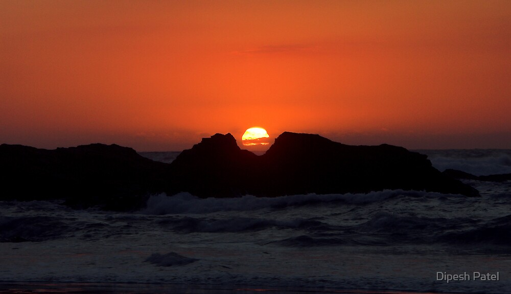 Sunset Over the Sea by Dipesh Patel