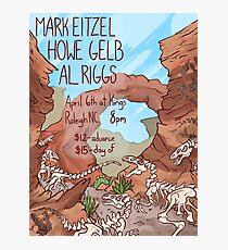 Mark Eitzel/Howe Gelb/AL Riggs Concert Poster Photographic Print