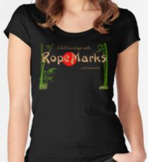 I did bondage with RopeMarks Women's Fitted Scoop T-Shirt