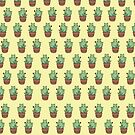 Cactus Cats (Yellow) by dcrownfield