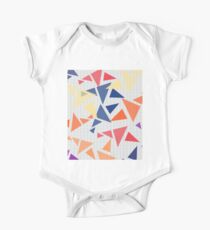 Abstract geometric Background  One Piece - Short Sleeve