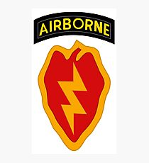 25th Infantry 4th BCT (Airborne) Photographic Print