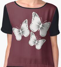 Butterfly Bliss Women's Chiffon Top