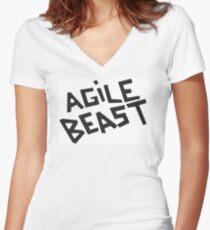 Agile Beast Matt Helders T-Shirt Women's Fitted V-Neck T-Shirt