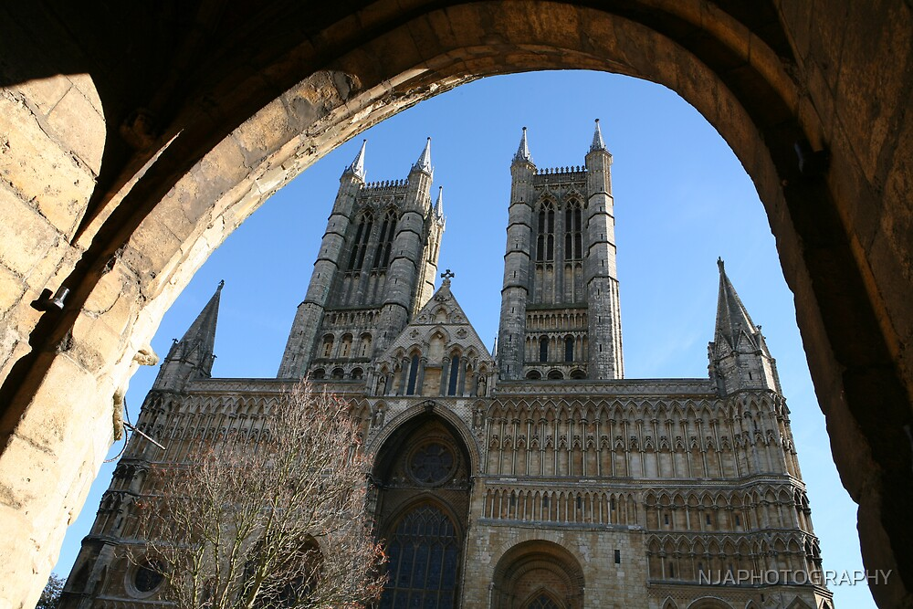 looking through the arch to lincoln catherdral by NJAPHOTOGRAPHY