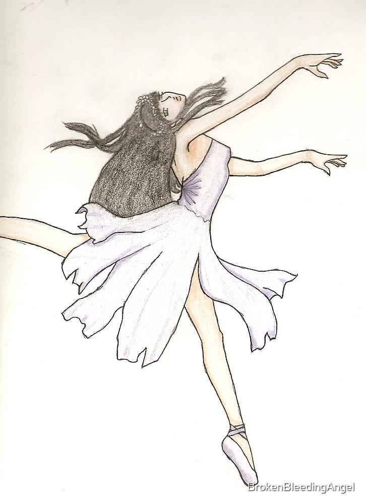 Purple Ballerina by BrokenBleedingAngel