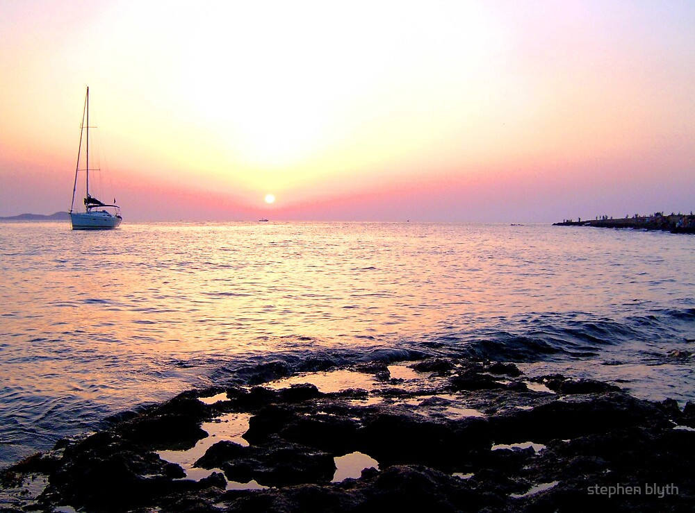 ibiza sunset by stephen blyth