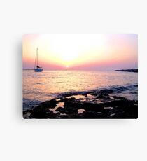 Lienzo puesta de sol de ibiza