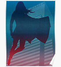 Supergirl Silhouette Poster