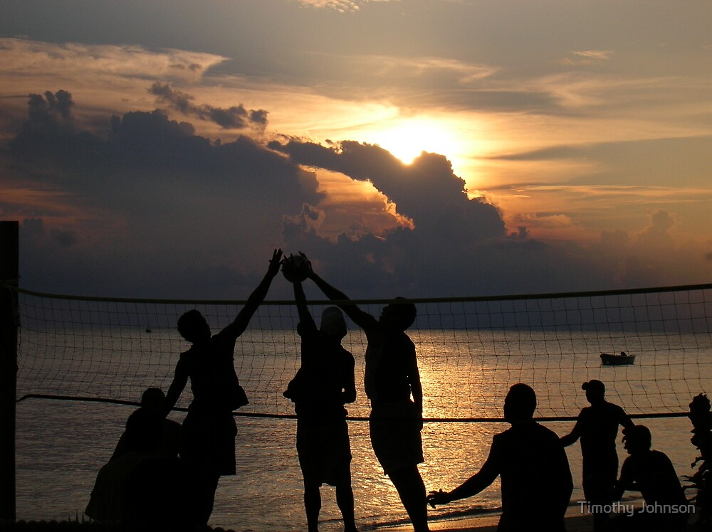 Sunset Volleyball by Timothy Johnson