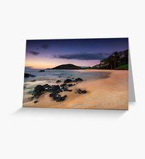 Big Beach Sundown - Maui Greeting Card