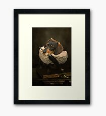 A Dogs Tale Framed Print