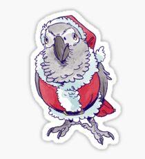 Santa Bird Sticker