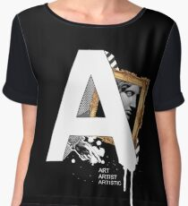 A IS FOR ART Chiffon Top