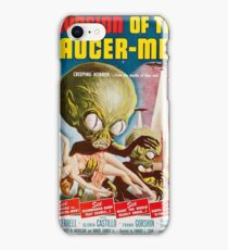 Invasion of the Saucer-Men - Horror Sci-Fi Movie Vintage Poster iPhone Case/Skin