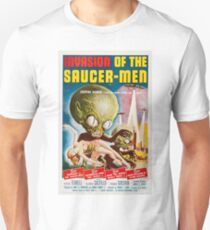 Invasion of the Saucer-Men - Horror Sci-Fi Movie Vintage Poster Unisex T-Shirt