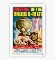 Invasion of the Saucer-Men - Horror Sci-Fi Movie Vintage Poster Sticker