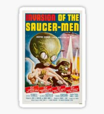 Invasion of the Saucer-Men - Horror Sci-Fi Movie Vintage Poster Sticker