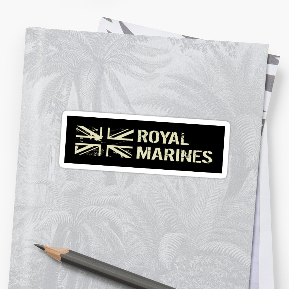 British Royal Marines Sticker Front