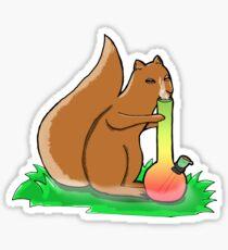 Smoking Squirrel Sticker