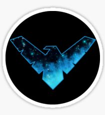 Nightwing Galaxy Logo Sticker