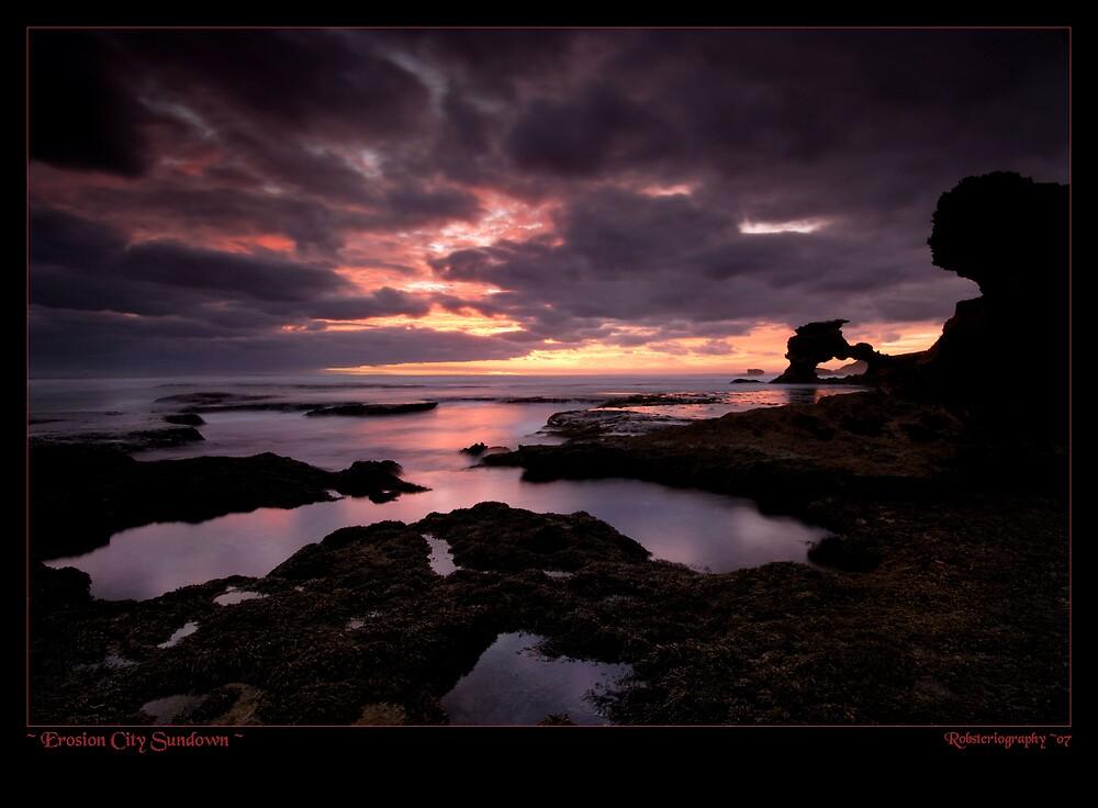 Erosion City Sundown by Robert Mullner