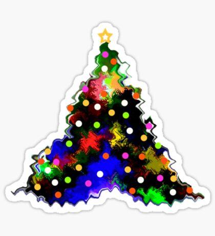 Funky Little Christmas Tree Sticker