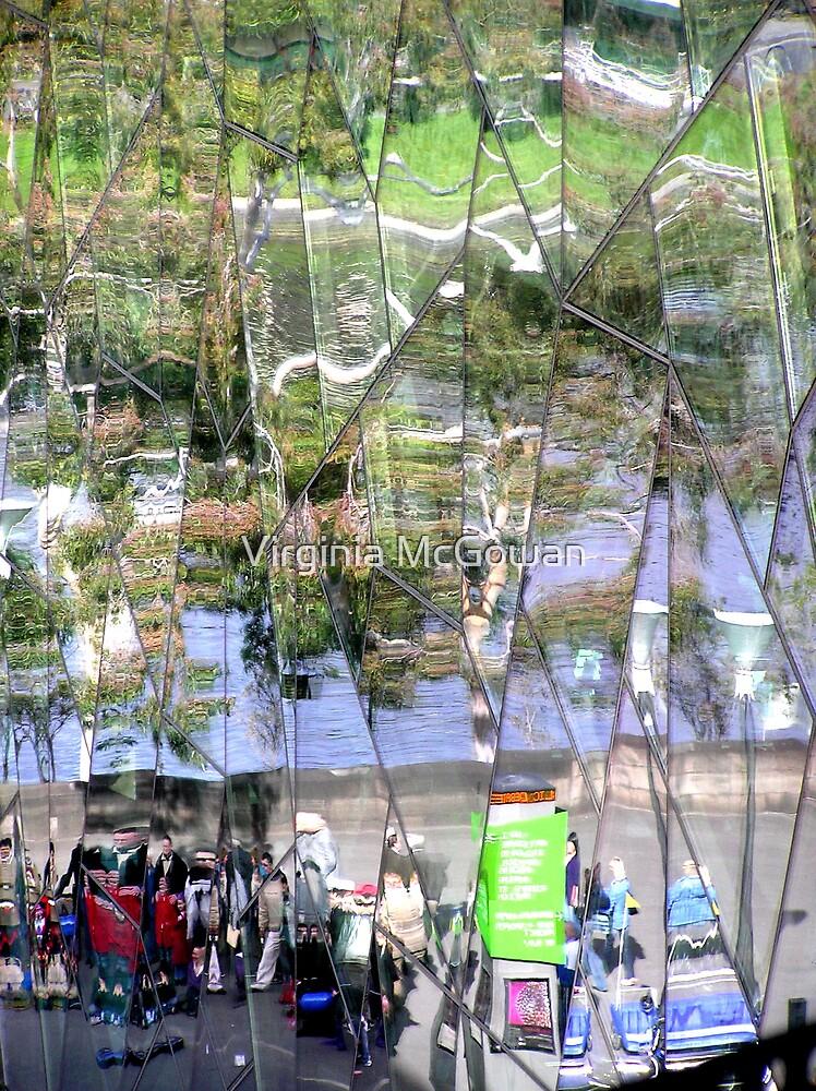 Coffee Shop Reflection  View by Virginia McGowan