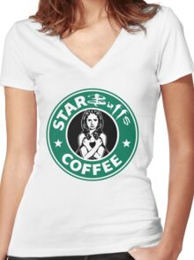 Sunnydale Starbuffs Women's Fitted V-Neck T-Shirt