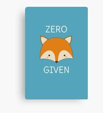 Funny Fox Pun  Canvas Print